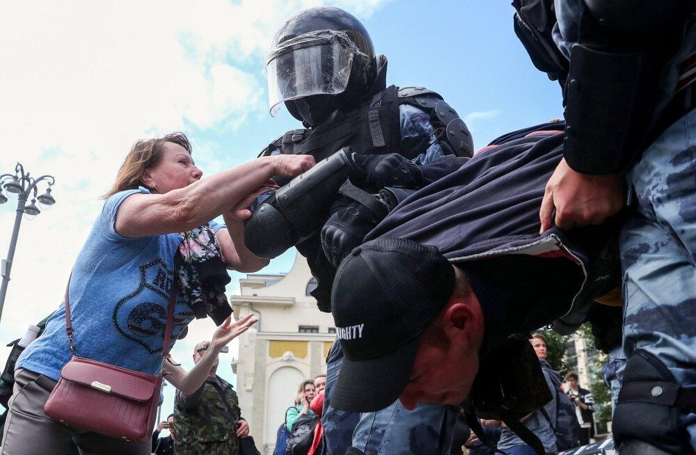Uued meeleavaldused tulekul: Vene opositsioon tahab koguneda Moskva kesklinnas, võimud nad sealt kaugele ajada