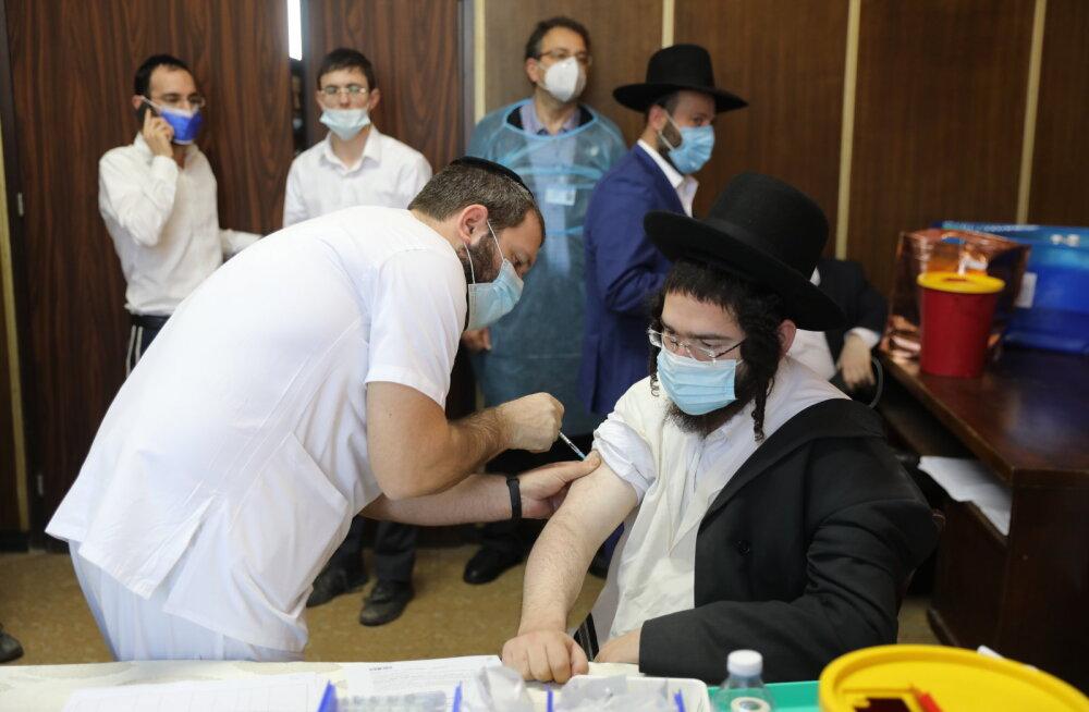 Iisraeli andmetel vaktsiin mõjub: 523 000 täielikult vaktsineeritust ei surnud keegi ja põdes raskelt neli inimest