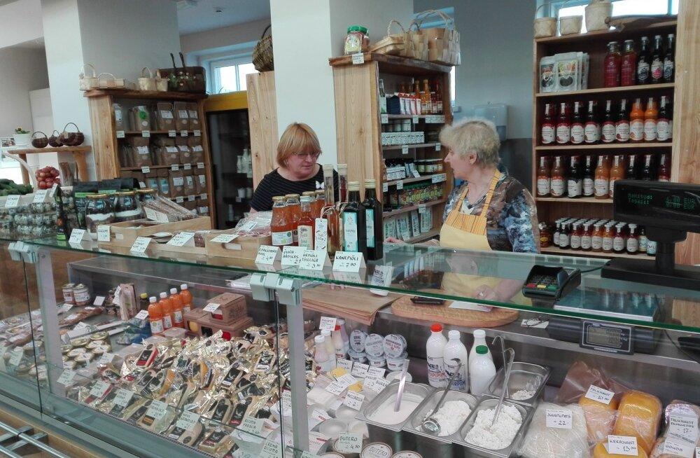Tartu turuhoones asuvas Lõunakeskuse Taluturu filiaalis on kena valik kohalikku talukaupa.