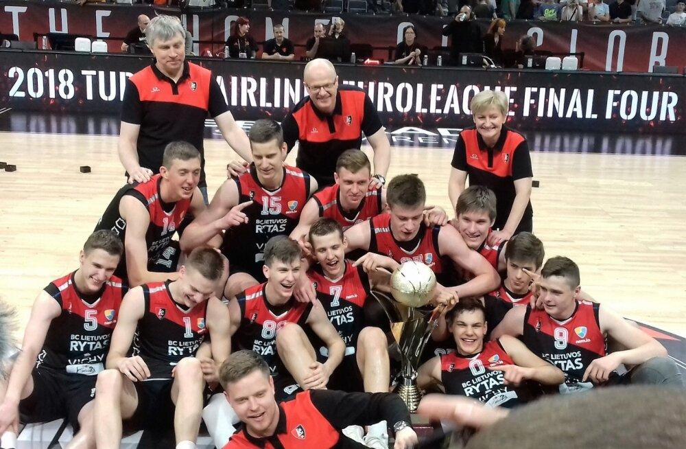 Vilniuse Lietuvos rytas võidukas U18 meeskond