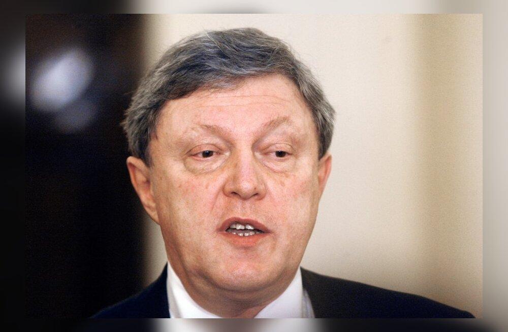 Javlinskit keelduti lõplikult Vene presidendikandidaadiks registreerimast
