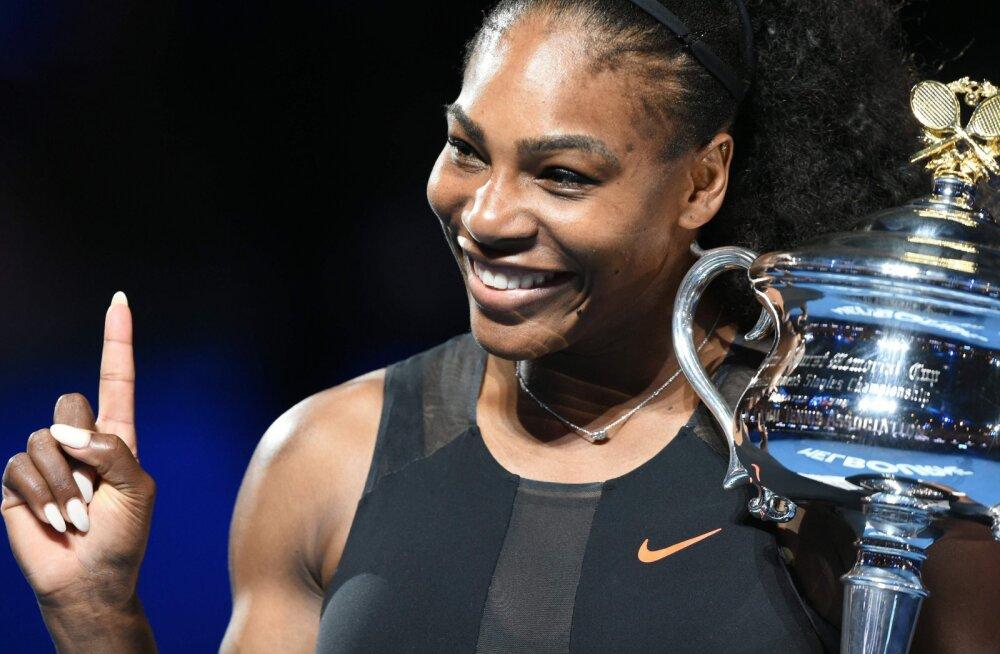HÄMMASTAV: Serena Williams võitis suure slämmi, olles teist kuud rase