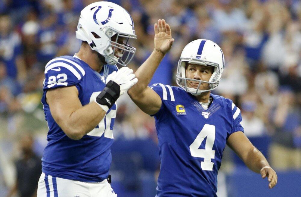 Hunt ja Colts võitsid järjekordse thrilleri