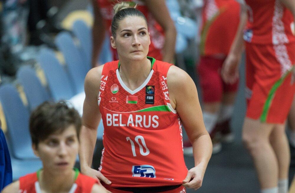Eesti naiste korvpallikoondis kohtus  Euroopa meistrivõistluste valikmängus Valgevene naiskonnaga.