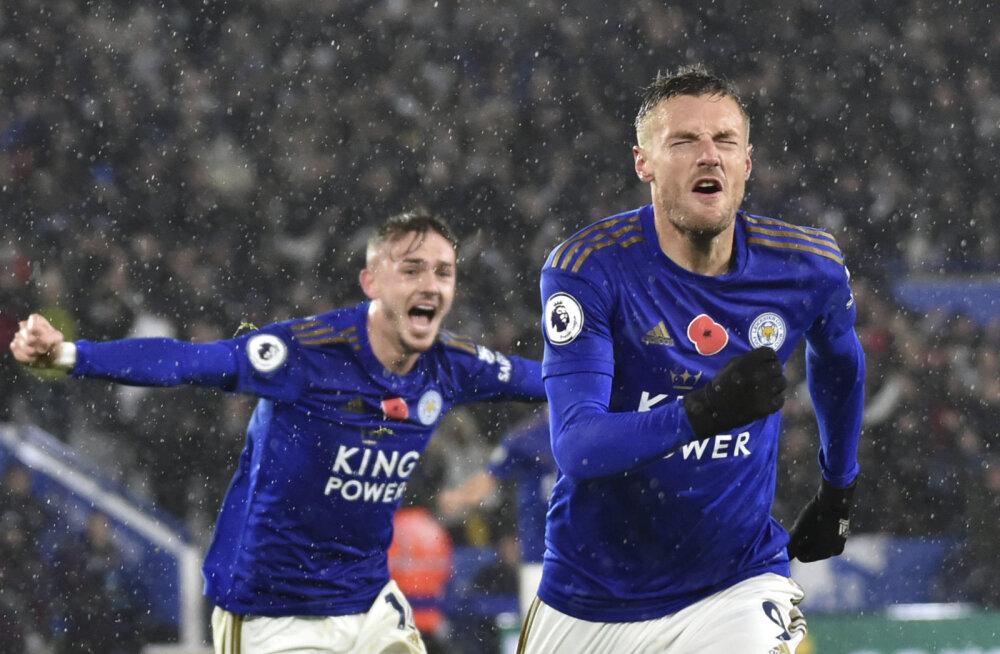 Arsenali alistanud Leicester tõusis teiseks, Tottenhami kurb seeria pikenes
