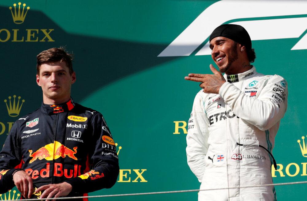Verstappen ja Hamilton