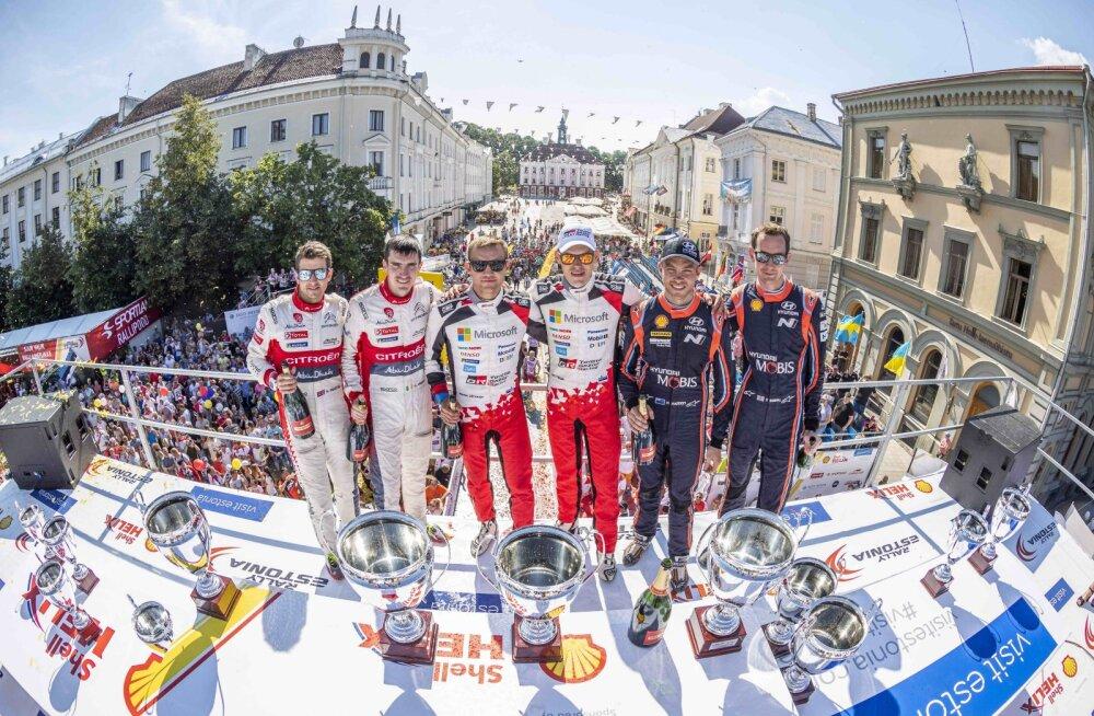 Rally Estonia poodium 2018