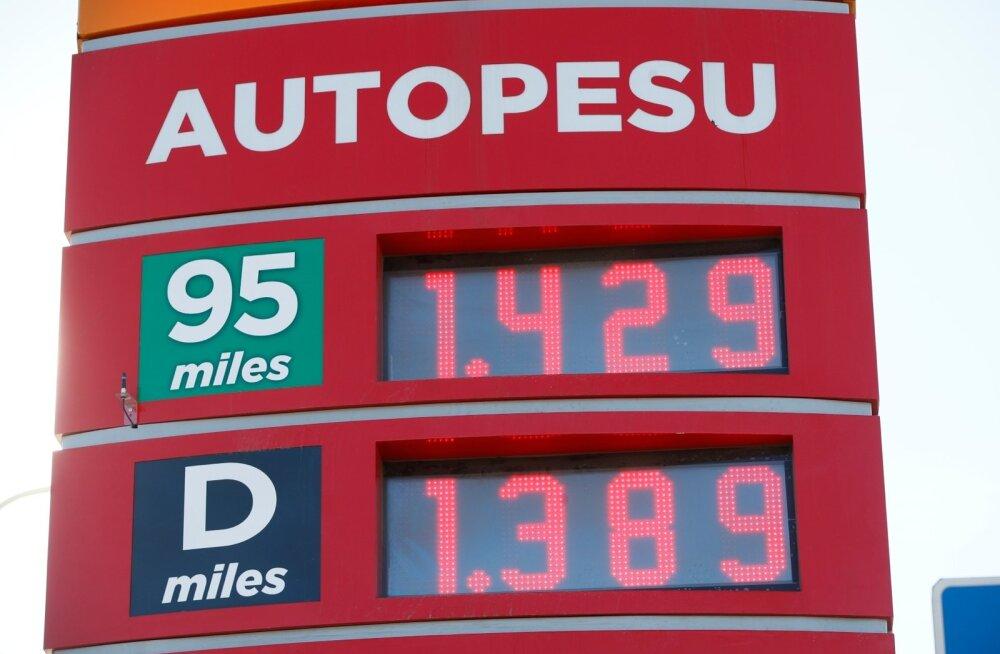 Kütuse hind Tallinnas 15.04.2019