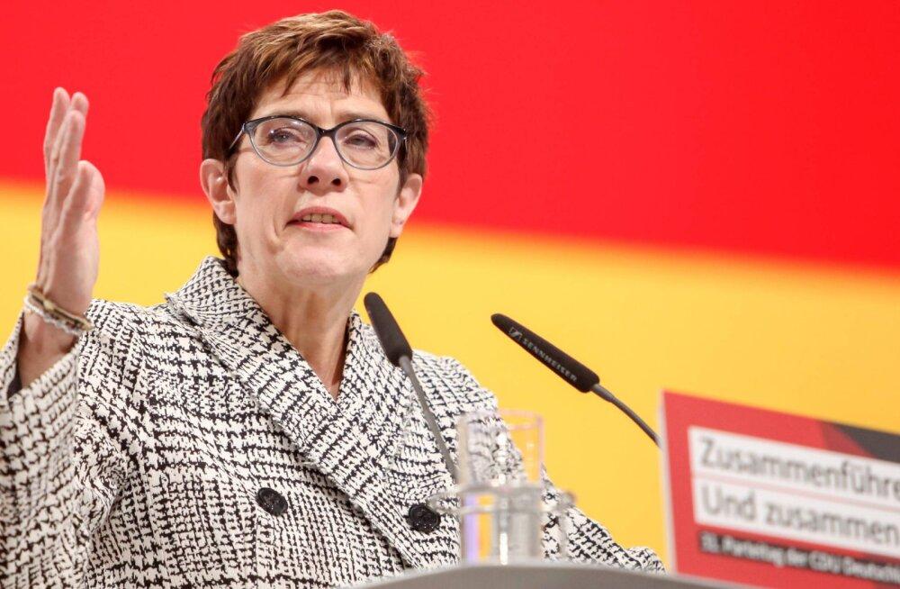 Merkeli mantlipärijaks saab Annegret Kramp-Karrenbauer