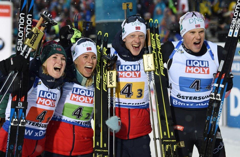 Algas laskesuusa MM: Eesti segateatenelik sai 14. koha, kuldmedal Norrale