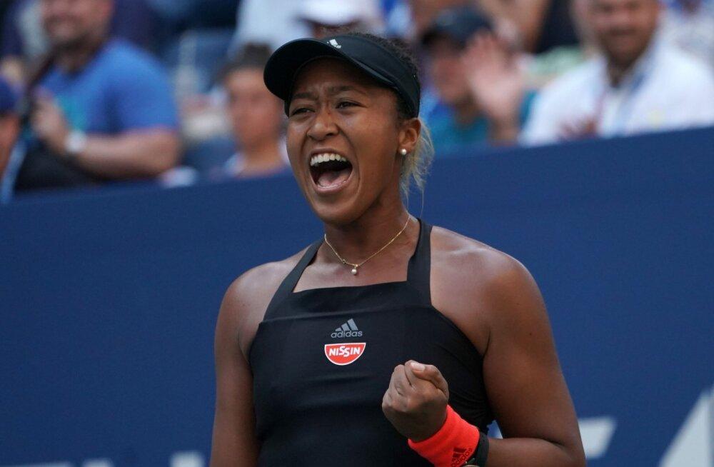 Naomi Osaka kindlustas US Openi poolfinaalkoha vähem kui tunniga