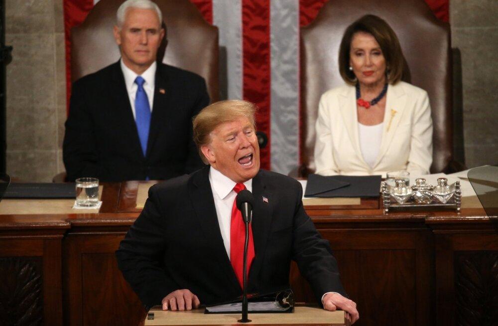Trump kõnes olukorrast riigis: USA majandusime võivad peatada vaid rumalad sõjad ja naeruväärsed juurdlused