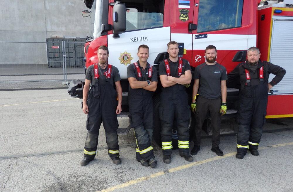 Põhja päästekeskuse eliitkomando 2020 tiitel kuulub Kehra päästjatele