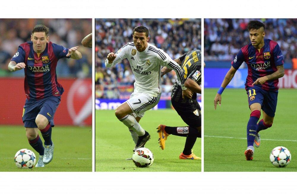Ballon d'Or`i kandidaadid: Messi, Ronaldo ja Neymar
