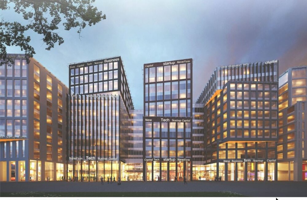 ФОТО: В квартале Ülemiste City появятся семь офисных зданий на 6500 рабочих мест