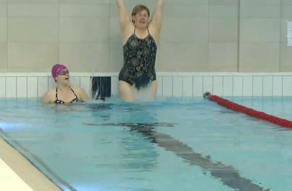 TV3 VIDEO | Kaire Vilgats ja Annely Adermann sulistasid triatloniks valmistudes basseinis