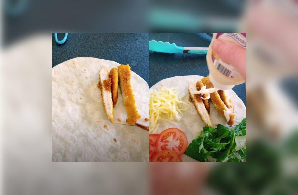 VIDEO | Kuidas sina tavaliselt vrappi sööd? See imelihtne viis võib saada sinu uueks lemmikuks