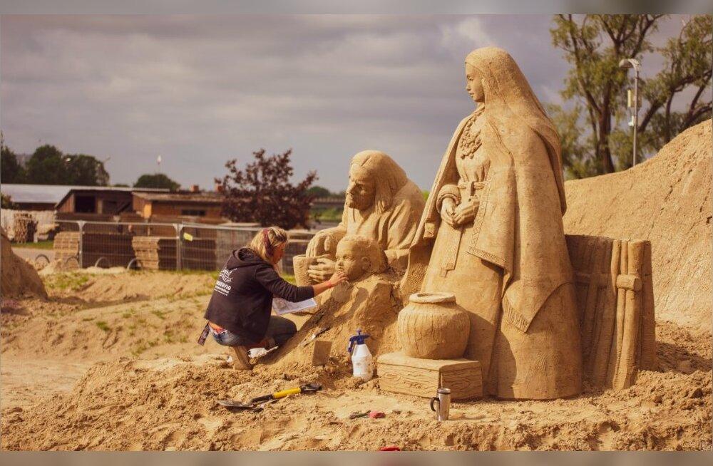 ФОТО | Сегодня в Латвии открывается парк песчаных скульптур