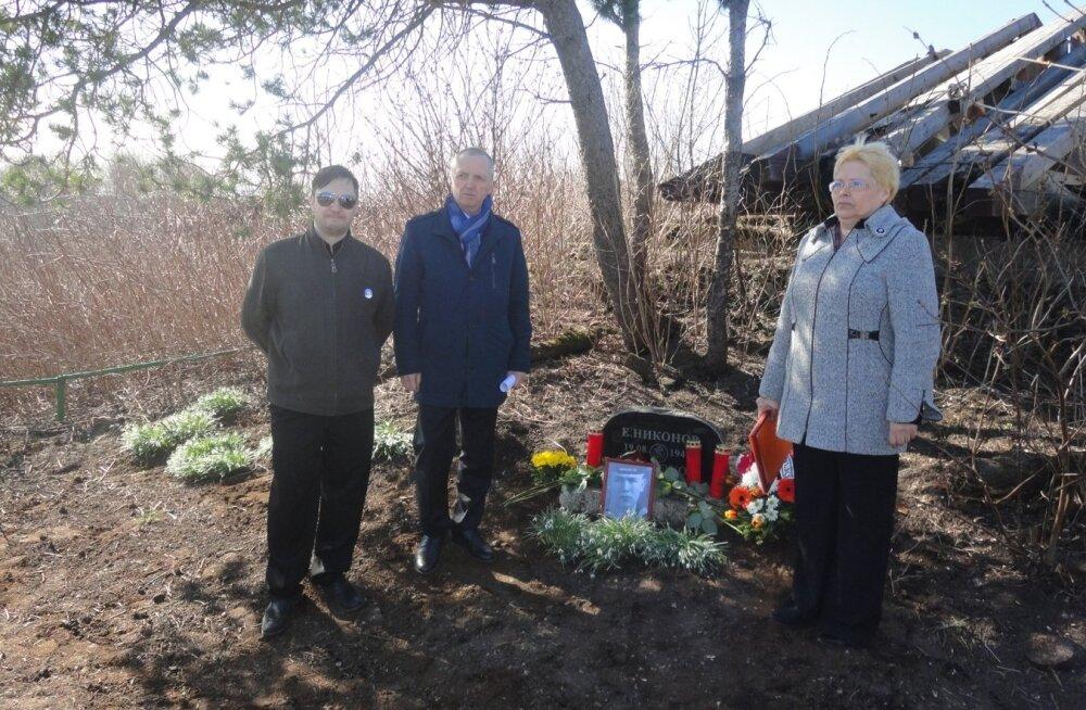 J.Nikonovi mälestustahvli üleandmine