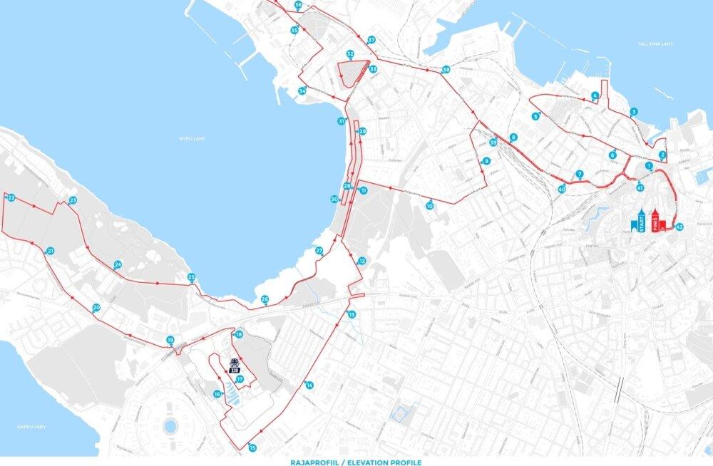 Tallinna Maratoni jooksutrass.