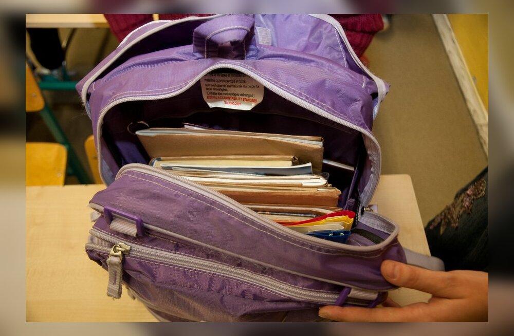 Lugeja: Lapse koolikott kaalub igapäevaselt üle viie kilo!