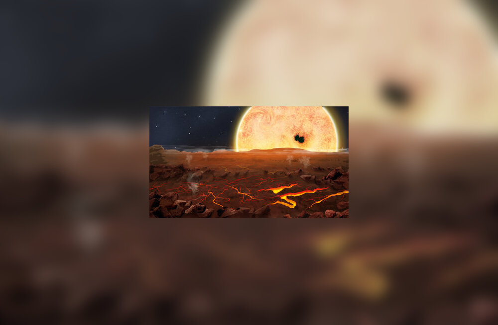 Kepler-78b pind kunstniku nägemuses. Jasiek Krzysztofiak/Nature
