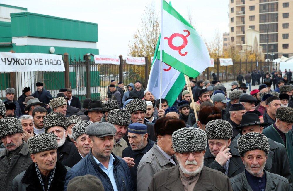 Inguššia pealinnas jätkusid meeleavaldused piirileppe vastu ka eile.
