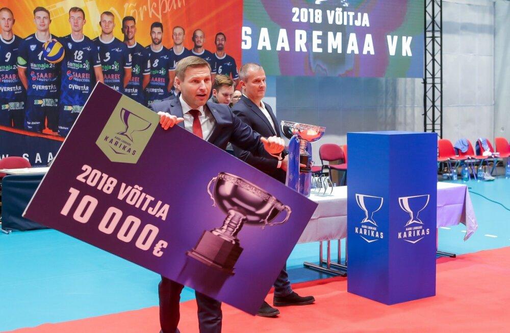 karikavõistlused võrkpallis karikafinaal Saaremaa vk ja Pärnu vk