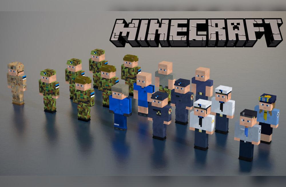 """Kaitseväevormi saab nüüd kanda ka """"Minecrafti"""" videomängus"""