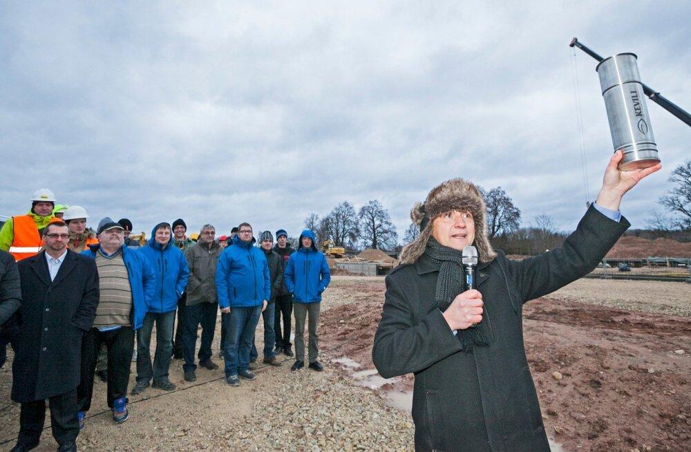 KEVILI Lõuna-Eesti viljaterminalile nurgakivi panek