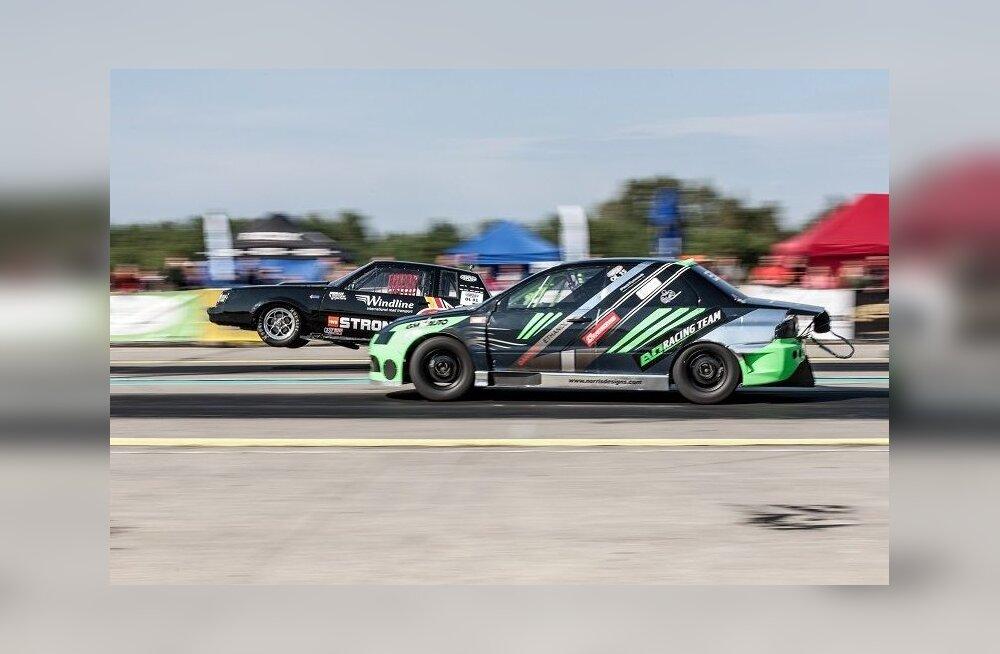 VIDEO: Nokk püsti! Kiirendusauto tahtis Eesti meistrivõistlustel õhku tõusta
