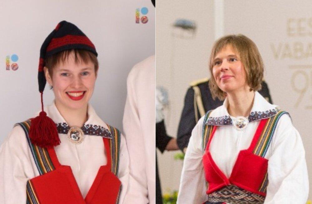 FOTOD | Nagu kaks tilka vett! Kersti Kaljulaidi tütar saabus vastuvõtule emalt laenatud rahvariietes