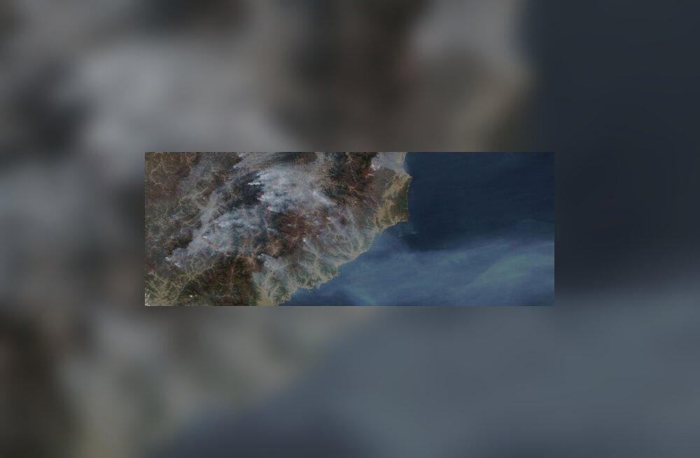 USA avastas kosmosest suure salapõlengu Koreas