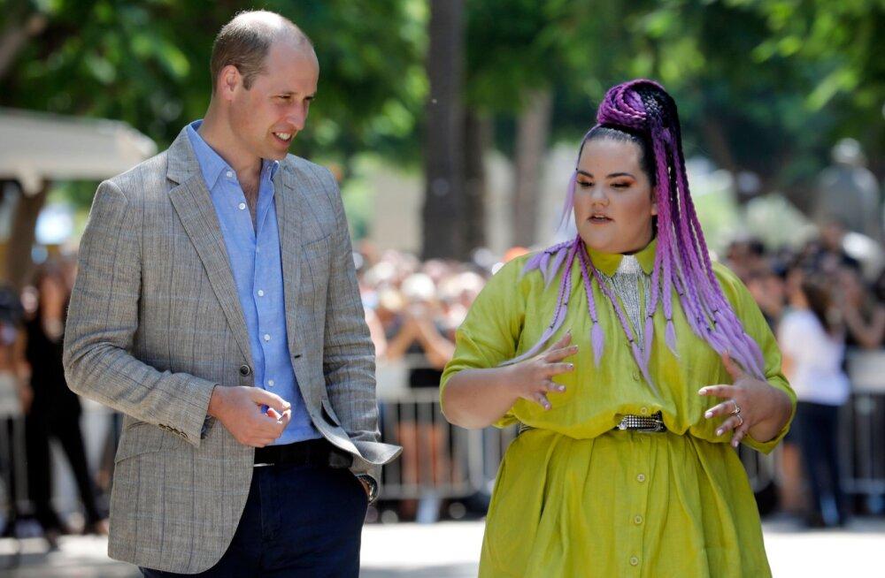 Uus duett? Prints William kohtus tänavuse Eurovisioni võitja Nettaga