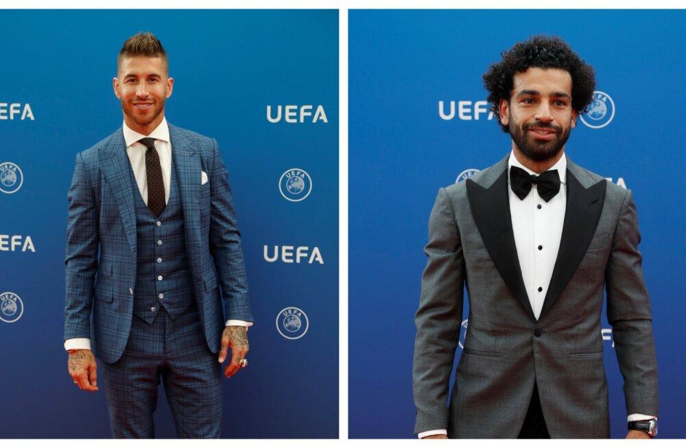 VIDEO | Mida see pidi tähendama? Ramos silitas Meistrite liiga loosimisel Salah' õlga