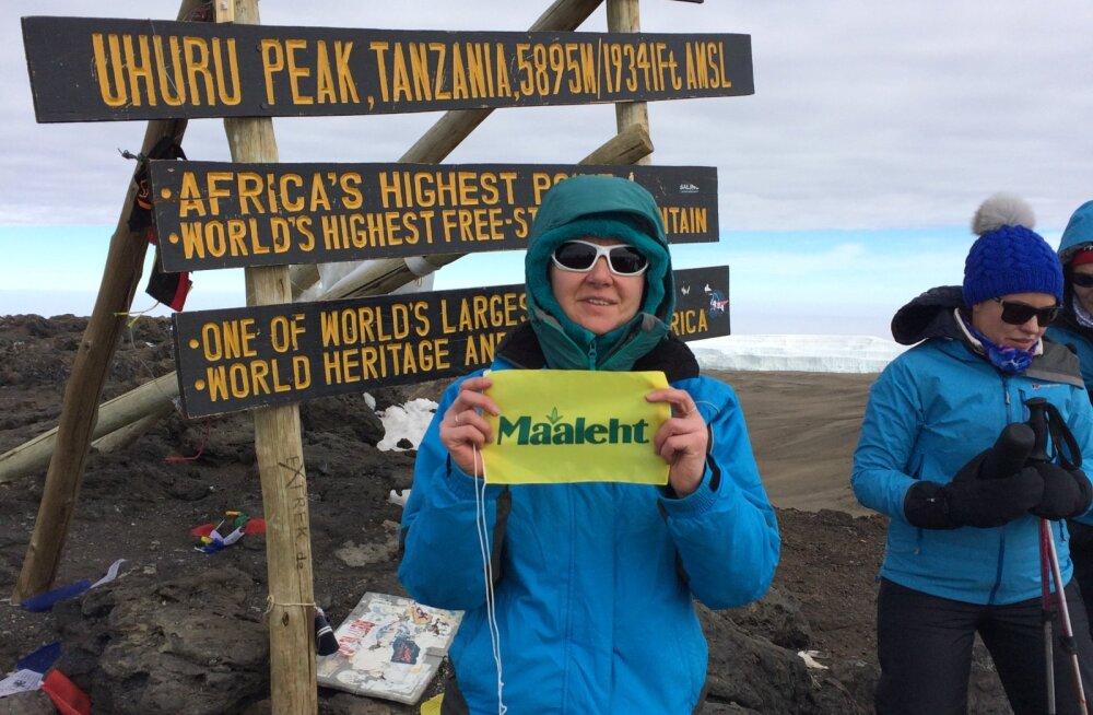 Maalehe lipp on lehvinud ka Aafrika kõige kõrgema mäe tipus