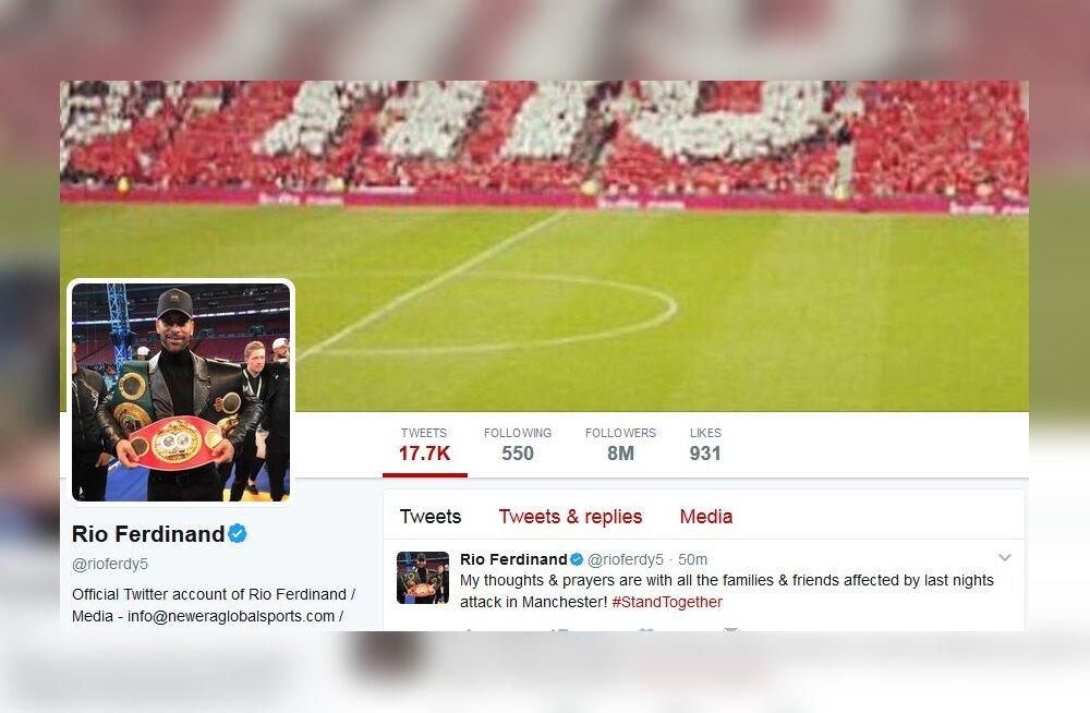 Twitteri reaktsioonid: Manchesteri jalgpallurid avaldavad terrorirünnaku ohvritele toetust ja kaastunnet