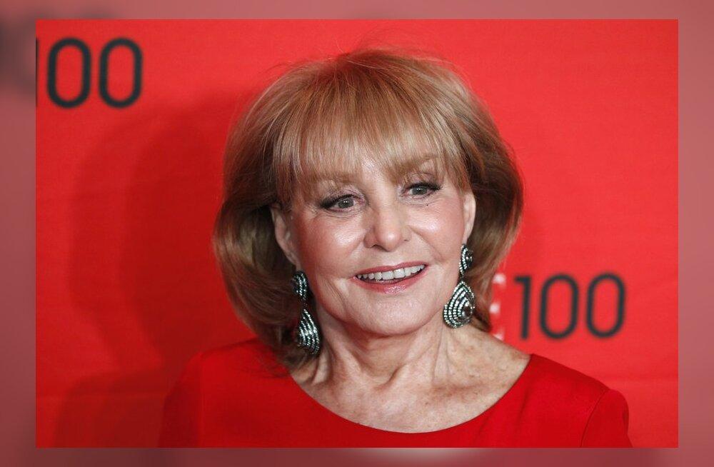 83-aastane USA saatejuht Barbara Walters jäi tuulerõugetesse