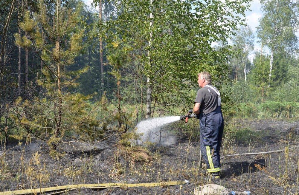Viljandimaal Rääka külas oli maastikutulekahju.