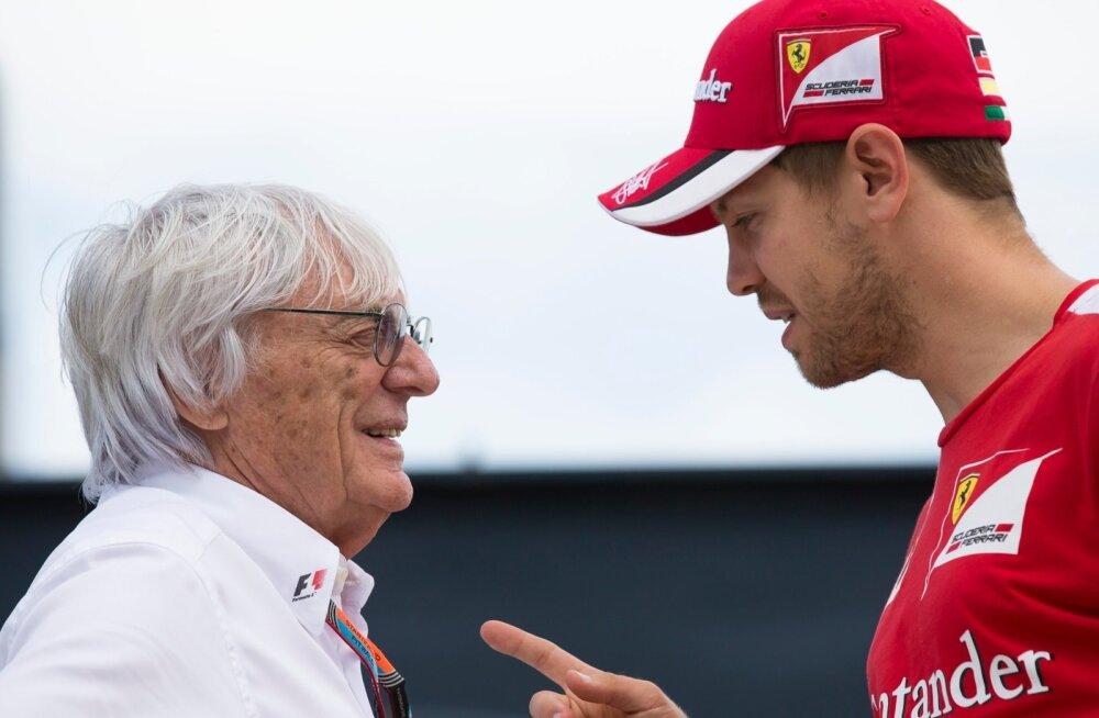 Bernie Ecclestone ja Sebastian Vettel
