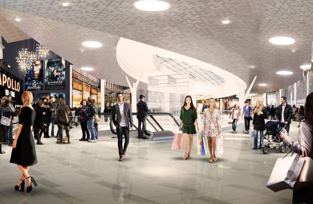 Ülemiste keskus kasvab veelgi suuremaks: kahe aastaga rajatakse kinokompleks, spordikeskus, uued poepinnad ja maa-alune parkla