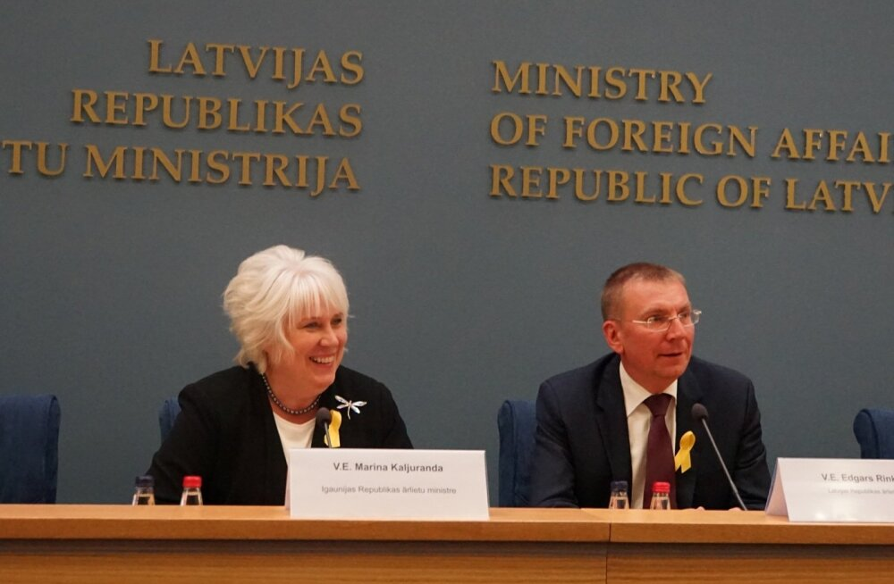 Marina Kaljurand ja Läti välisminister Edgars Rinkēvičs