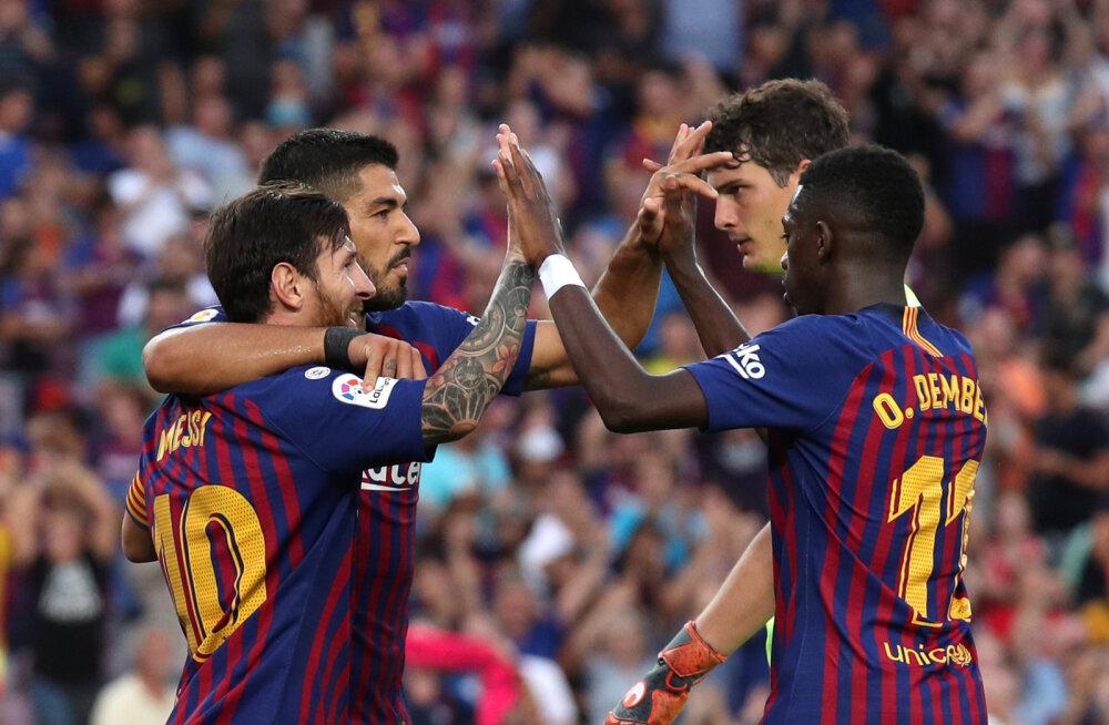 Barcelona tagus koduliigas kaheksa väravat