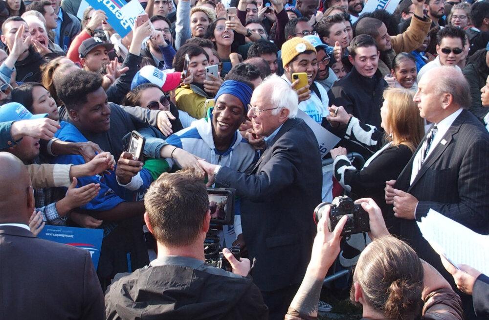 Infarktist taastuv senaator Bernie Sanders suurüritusel: ma olen tagasi!