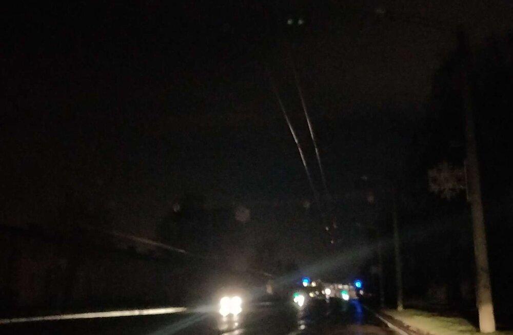 Kottpimedus: Tallinnas Kristiines oli öösel ulatuslik elektrikatkestus