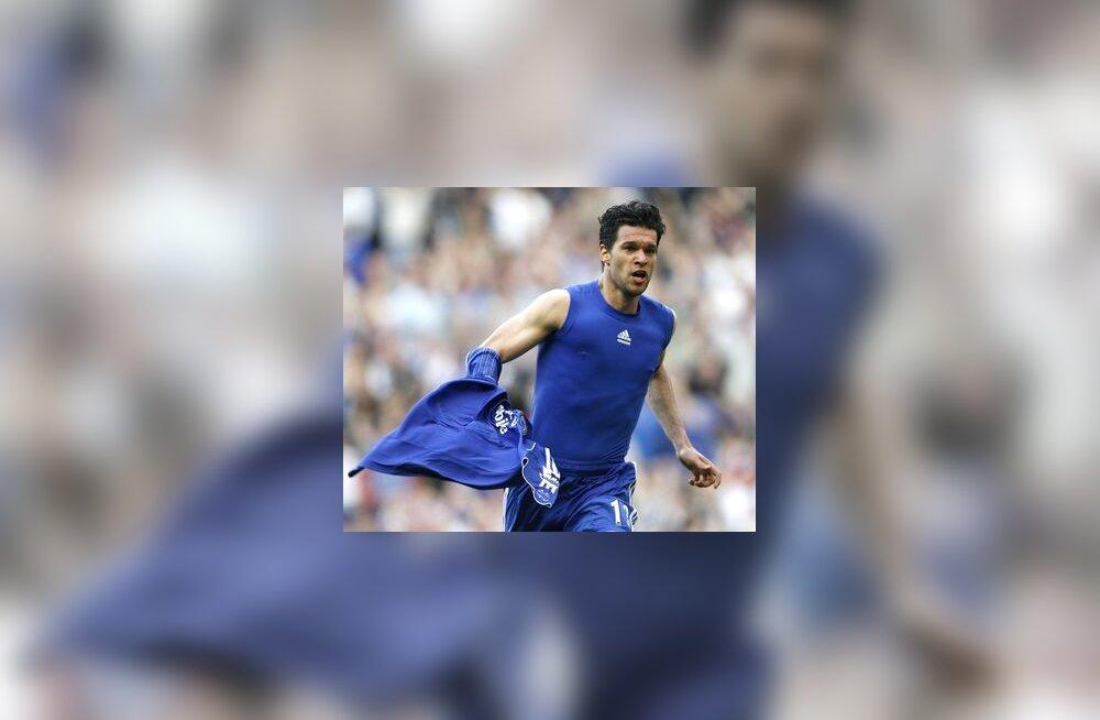 Michael Ballack on löönud Chelsea võiduvärava