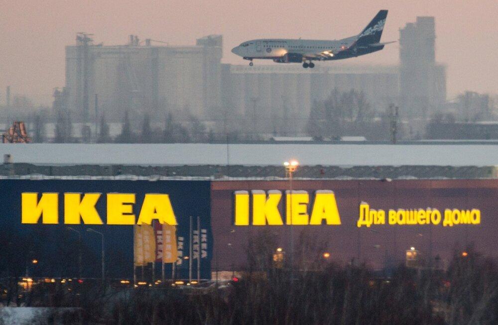 Ikea reklaam Venemaal Omski lennujaama lähedal.