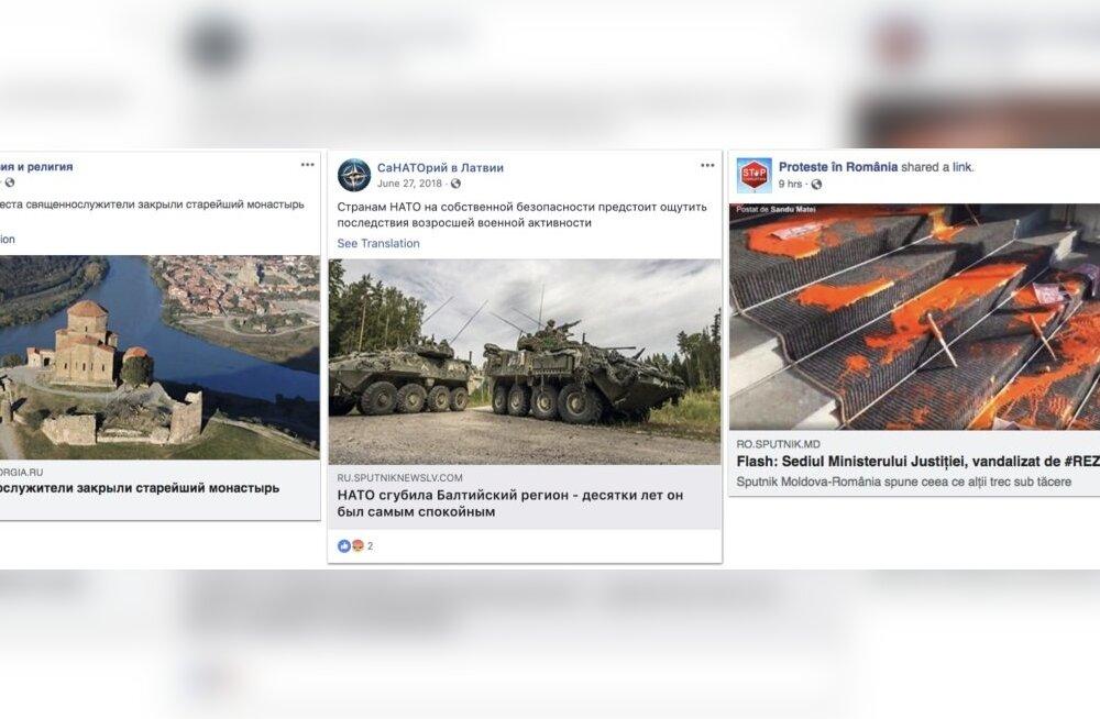 Facebook eemaldas platvormilt mitusada Vene kontot, mis tegelesid mõjutusoperatsioonidega Baltimaades ja mujal