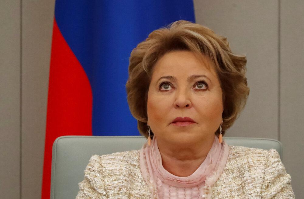 Venemaa föderatsiooninõukogu spiiker Matvijenko on nördinud kuuldustest oma hiigelpensioni kohta: feik ja müüt!