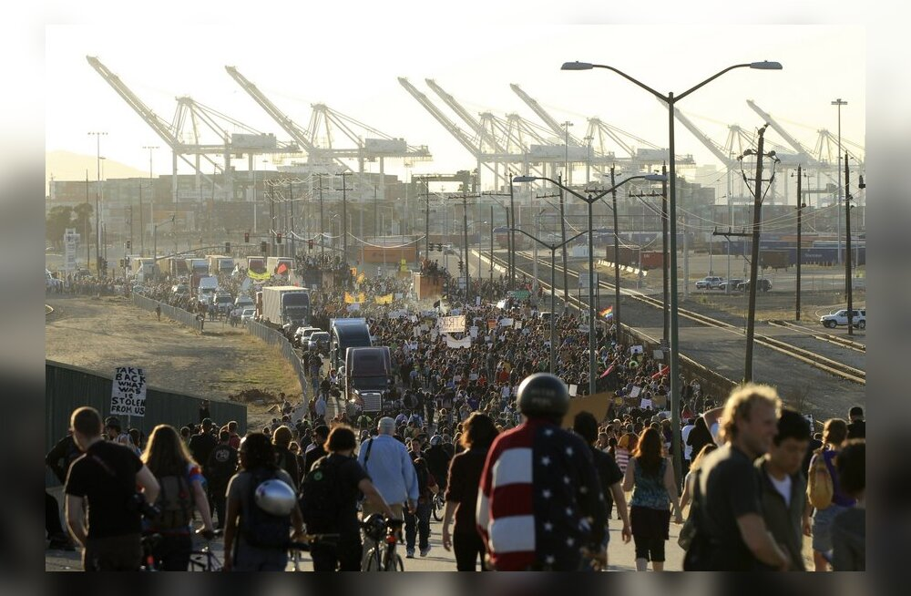 Meeleavaldajad peatasid USA ühe tähtsama sadama tegevuse